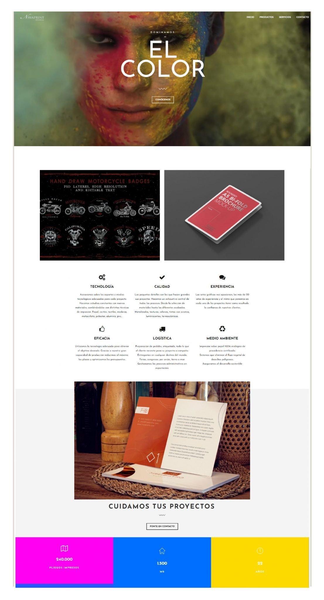 Diseño web y catálogos digitales. Estrategia SEO Pamplona
